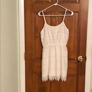 NWOT Forever 21 White Lace Sleeveless Dress Sz L
